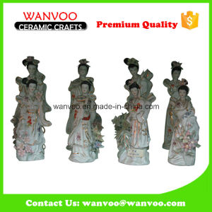 Chinese Unique Style Ceramic Fairy Statue Figurine for Home Decoration pictures & photos