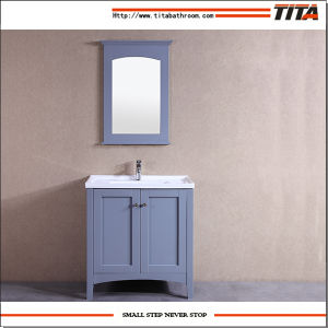 High Quality Ceramic Basin Bathroom Cabinet T9304-40W pictures & photos
