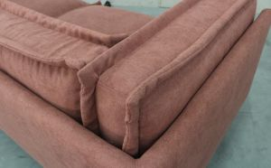 Modern High Quality Fabric with Feather Seat Cushion 3 Seat Sofa Yh-345 pictures & photos