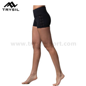 Women Yoga Short Pants Ladies Sports Wear Running Slim Pants Fitness Garments pictures & photos