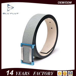 Fashion Design Custom Logo Buckle Cowhide Leather Belts pictures & photos