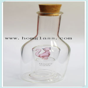 Glass Wine Bottle/Liquor Glas Bottle/Spirits Bottle/Castors/ Apothecary Jar pictures & photos
