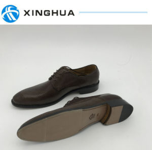 Cow Leather Shoes Police Office pictures & photos