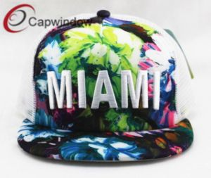 Miami Floral Trucker Mesh Cap and 3D Embroidery (01577) pictures & photos