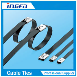 Plastic Covered Stainless Steel Cable Tie in Stock pictures & photos