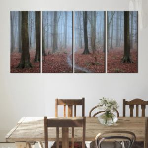 Inkjet Printed Canvas 3 Panel with Clock pictures & photos