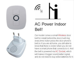Wireless Video Doorbell Real Time Watching and Listening by Phone pictures & photos