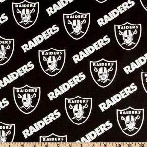 NFL Cotton Fabric Broadcloth Oakland Raiders Black/Silver pictures & photos