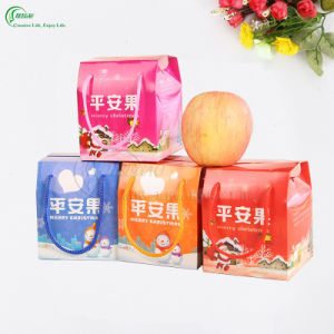 Custom Printed Christmas Apples Gift Packaging Box with Handle Rope (KG-PX080)