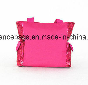 Bright Color Shinny Fabric Shoulder Hand Satchel School Book Bag pictures & photos