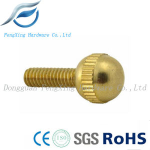Brass Knurling Ball Head CNC Machining Screw for Router Spare pictures & photos