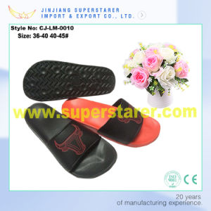 Custom 2017 New Design Comfy Leather PU EVA Slippers pictures & photos