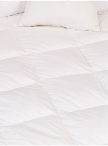 Light Weight Cool White Duck Down Quilts for Summer with 8 Loops pictures & photos