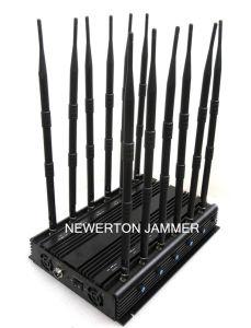 WiFi 5.2g 5.8g Mobile Phone Phone 2g 3G 4G GPS VHF UHF Lojack RF 315/433/868MHz Desk Jammer/Blocker/Isolator pictures & photos