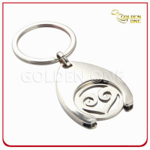 Custom Die Cut Metal Trolley Coin Keychain for Shopping Cart pictures & photos