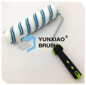 Blue and Green Stripe Paint Roller Brush with Handle pictures & photos