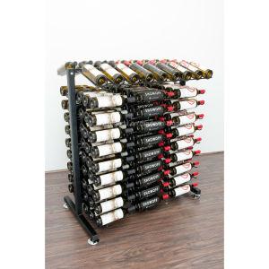 Practical 360-Bottles Metal Floor Storage Wine Bottle Display Rack pictures & photos