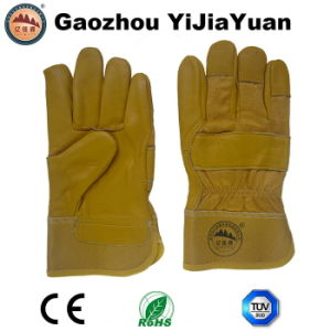 Top Grain Cowhide Safety Working Gloves pictures & photos