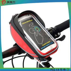 5.5 inch Waterproof Touch Screen Bicycle Handlebar Front Basket Phone Bag pictures & photos
