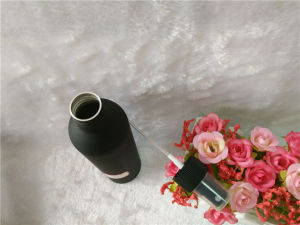 250ml Matte Black Aluminum Bottle with Pump pictures & photos