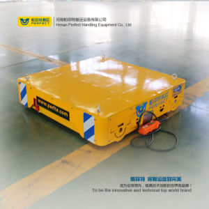 Battery Powered Electric Material Handling Transport Bogie on Rails pictures & photos