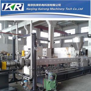 Tse-50 EVA Compounding Plastic Filler Masterbatch Machine to Produce Pellets Used/Starch Masterbatch Cable Granulator Machine pictures & photos