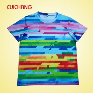 Wholesale Custom Polyester Tee Shirt with Full Printing pictures & photos