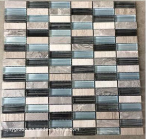 White Blue and Black Stone Mix Crystal Glass Mosaic Jy41k pictures & photos