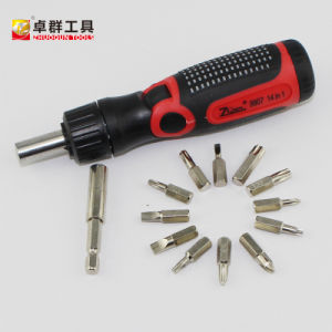 14PCS Multi-Purpose Bits Screwdriver Set with Ratchet Angle Handle pictures & photos