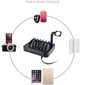 6 USB Multi Ports Charger with Stand Dock for iPhone 5 6 7 iPad Samsung pictures & photos