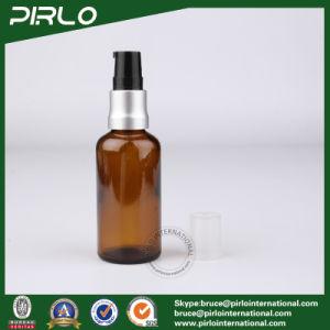 50ml Amber Lightproof Glass Spray Bottles with Black Aluminium Pump Sprayer pictures & photos