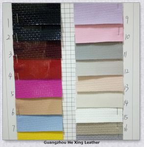 Embossed PU Leather Synthetic Leather for Shoes, Hand Bag. pictures & photos