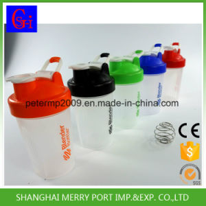 400ml 14oz Custom Plastic Water Bottle Shaker with Stainess Steel Mixer pictures & photos