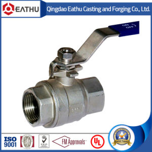 2PC NPT Threaded Stainless Steel Ball Valve pictures & photos