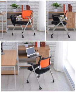 Folding School Student Meeting Conference Chair with Cushion pictures & photos