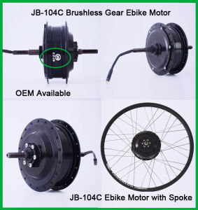 Jb-104c 48V 500W DC Brushless Hub Motor pictures & photos