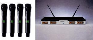 Gymsense UHF/Pll Four Channel Karaoke Wireless Microphone