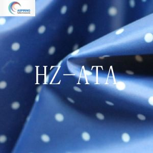 DOT Printed Polyster Taffeta Fabic pictures & photos