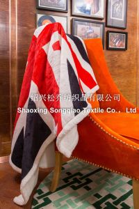 100% Polyester Printed Sherpa Fleece Throw - The Union Flag pictures & photos