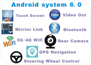 New Ui Android 6.0 Car Video for Corolla Ex 2013 with Car GPS Navigation pictures & photos