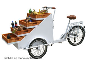 3 Wheels Cargo Fiets Street Selling Trike with Basket pictures & photos