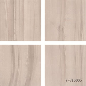 China Matt Ceramic Four Faces Semi-Polished Marble Porcelain Grey Floor Tile (600X600mm)