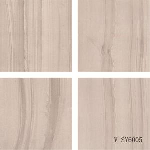 China Matt Ceramic Four Faces Semi-Polished Marble Porcelain Grey Floor Tile (600X600mm) pictures & photos