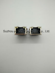 Single-Port Magnetic Modular Jacks with LED, Rj 45 pictures & photos