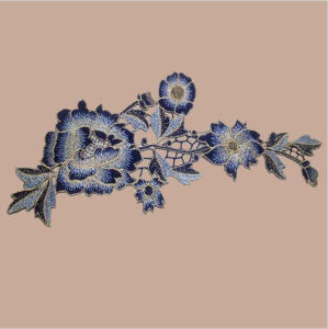3 D Flower Embroidery Patches Indian Applique pictures & photos