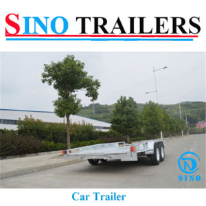 Galvanized Car Transport Trailer with Ramps pictures & photos