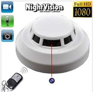 1920*1080 Full HD Motion Detection Night Vision Smoke Detector Mini DVR Camera Remote Control pictures & photos