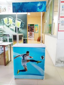 Aluminum Straight Pop up Display Easy Carrying Promotion Counter pictures & photos