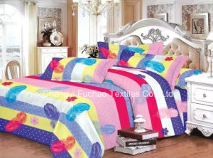 Made in China 100% Polyester Microfiber Bedding Set Used for Home or Hotel pictures & photos