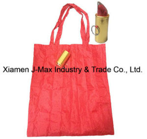 Foldable Shopper Bag, Promotion Bags, Lipstick Style, Reusable, Lightweight, Grocery Bags and Handy, Gifts, Promotion, Tote Bag, Decoration & Accessories pictures & photos